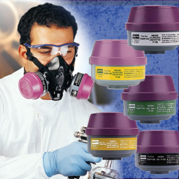 North Combo Cartridge 7584-P100/Ammoina/Methylamine 2/pk
