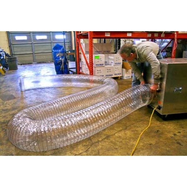Flexible Ducting - 12 in.x 25 ft. Clear - Item #AM0202