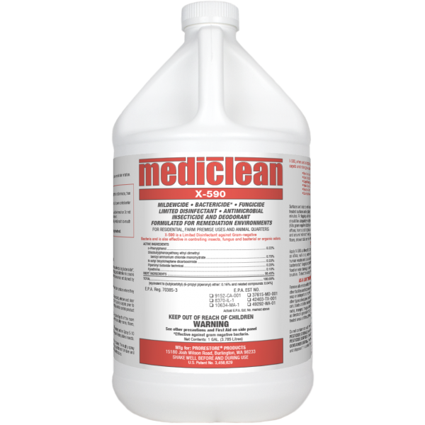ProRestore MediClean X-590 Bactericide, Insecticide & Fungicide (formerly Microban)