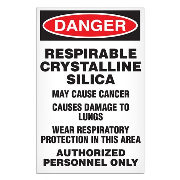 """Silica Dust Warning Signs 11"""" x 17"""" 100/Pack"""