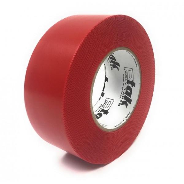 Red Polyethylene Tape, 2''x180', 24 Rolls/Case
