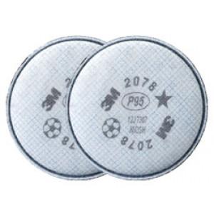 3M Pancake Filters 2078-P95/Organic Vapor/Acid Gas 2/pk