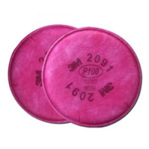 3M Pancake Filters 2091-P100 2/pk