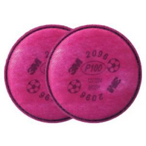 3M Pancake Filters 2096-P100/Acid Gas 2/pk