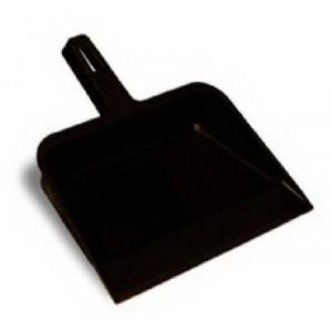 "Continental Commercial #712 12"" Black Plastic Dust Pan"