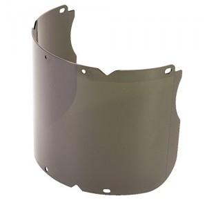 "MSA 10115862 V-Gard Polycarbonate Visor for V-Gard Chin Protectors, Molded, Shade 5 IR, 8"" x 17"" x 0.098"""