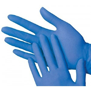 "Global Glove 805PF-M 11"" Disposable or Reusable 8 mil Powder Free Nitrile Glove"