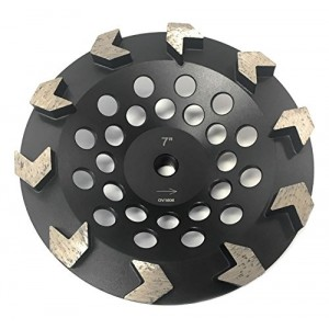 """TheSafetyHouse 7 Inch Diamond Grinding Cup Wheel Arrow-Shape Segmented Cup Threaded (5/8""""-11mm))"""