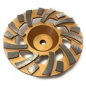 "TheSafetyHouse 7'' Diamond Cup Wheel, Gold Fan Wheel 5/8"" - 11mm Threaded"