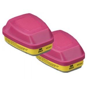 3M™ Combo Cartridges 60923-P100/Organic Vapor/Acid Gas 2/pk