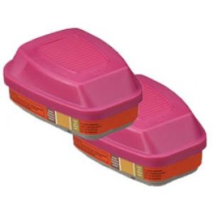 3M™ Combo Cartridges 60929-P100/Mercury Vapor/Chlorine Gas 2/pk