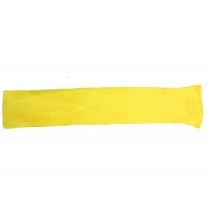 "Global Glove K18SL Double Ply Kevlar Sleeve, Cut Resistant, 18"" Length, Yellow"