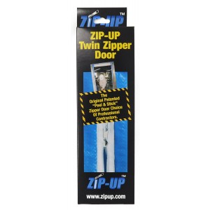 """Zip-Up Products Air-Tight Twin Zipper Door - 84"""" x 3"""" 2 Pack For Jobsite Dust Containment with Patented Airtight Zipper & Peel & Stick Backing - ZIP7.3TWB"""