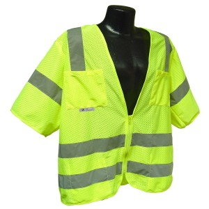 Radians SV83GM3X Class 3 Standard Mesh Safety Vest with Short Sleeves, 3X-Large, Green
