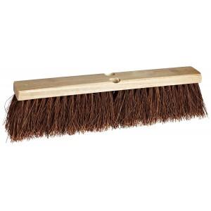 "Weiler 25242 Palmyra Fiber Garage Brush with Wood Head, 2-1/2"" Head Width, 24"" Overall Length, Natural"