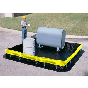 Ultra-Containment Berms, Collapsible Wall Model - 6 ft x 6 ft x 1 ft - Item #SC8403