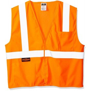Radians SV2OSM Class 2 Solid Safety Vest, Orange, Medium