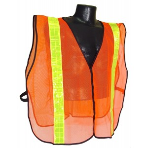 Radians SVO2 2 Inch Tape Universal Size Non Rated Safety Vest, Orange Mesh