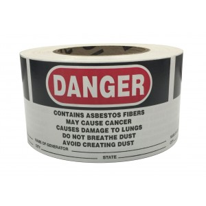 Asbestos Generator Label Roll