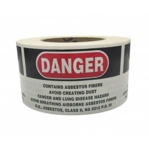 Asbestos Labels on Roll