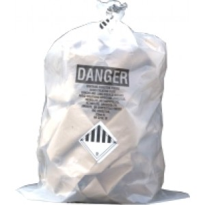 Clear Asbestos Bags 33x50x06E 4Mil 100/roll Printed