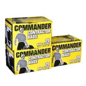 Contractor Bag 33 x 48 3 Mil Black Bag - 20/Box