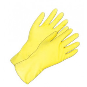 Latex Yellow 12in Flock Lined Gloves - Item #GCH0100