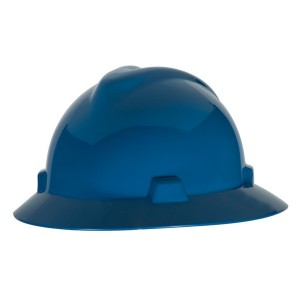 MSA V-Guard Full Brim Hard Hat w/ Fas-Trac Suspension