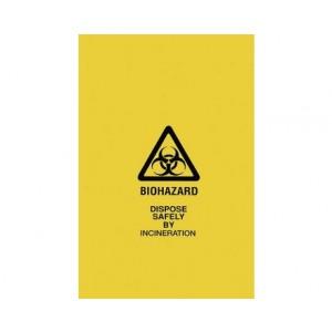 Yellow Biohazard Bags 43x49x02E 100/cs