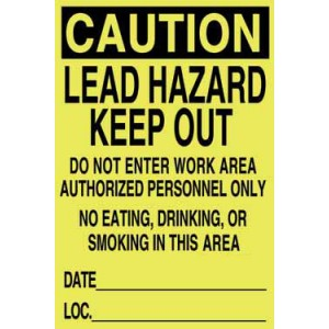 "Lead Hazard Signs14""x20"" English/pack 100"