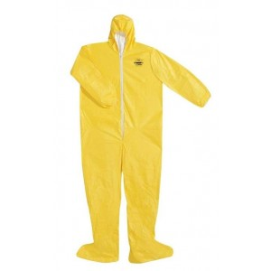 'Dupont Tychem QC' Size 2XL Protective Coverall Suit w/ Hood & Boots - 12/case
