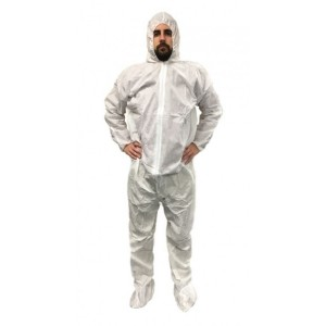 Safetyhouse SMS White - Hood, Boots,  Elastic Wrists-4XL