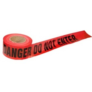 Danger Do Not Enter Tape (RED) 3x1000'
