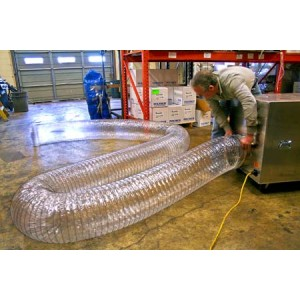 Flexible Ducting - 8 in.x 25 ft. Clear - Item #AM0197