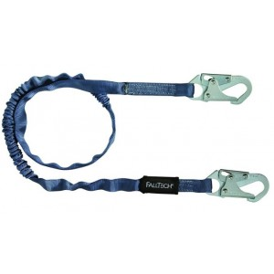 FallTech 8259 Internal, Tubular Web SAL - Single Leg with 2 Snap Hooks, 6', Blue