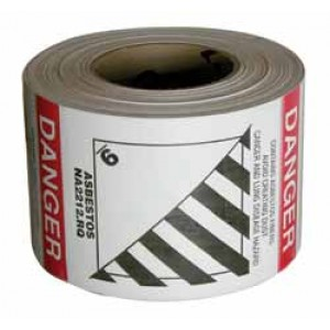 Asbestos Labels ID#9 on Roll