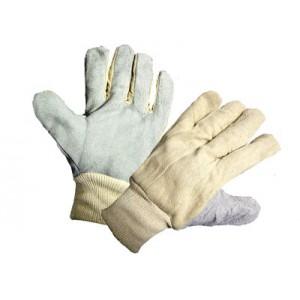 AES Leather Palm Work Glove 2 in Knit wrist - dozen