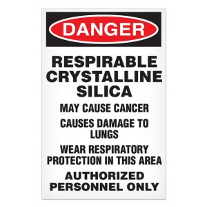 "Silica Dust Warning Signs 11"" x 17"" 100/Pack"