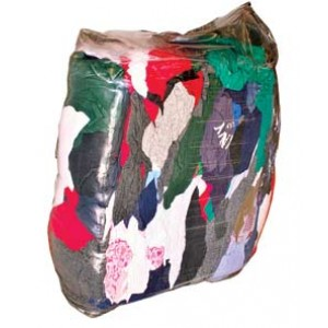 Vacuum Packed Colored Rags 25LBS