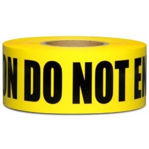 Yellow Caution Do Not Enter Barricade Tape 3 X 1000