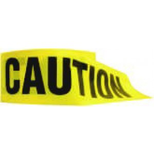 """Caution Tape Yellow 3""""x1000' / roll"""