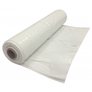 White Flame Retardant Plastic Poly Sheeting 6 Mil - 20' x 100'