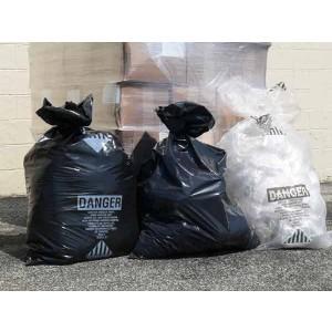 Clear Asbestos Bags 33x50x06E 4Mil 100/roll Printed