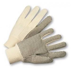 Cotton Canvas Single Dot Gloves