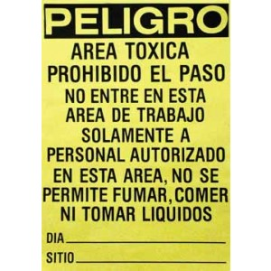 "Lead Hazard Signs14""x20"" Spanish/pack 100"