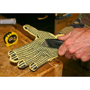 Kevlar String Knit Double Dot Gloves